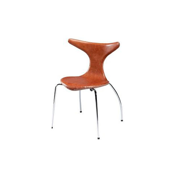 A-DOLPHIN-chair-brown-leather-w.-stitches-and-chrome-legs_front-1-Ps