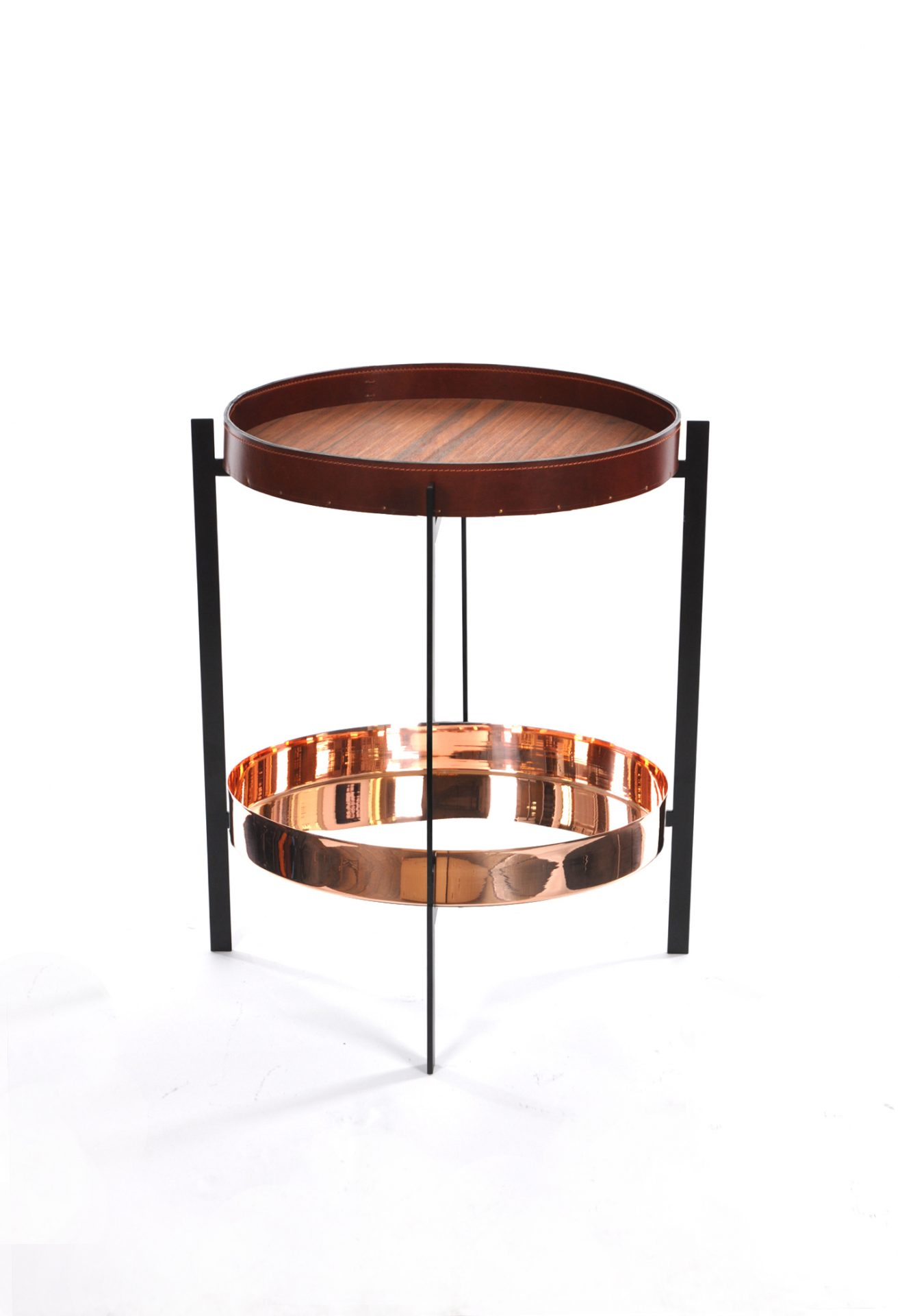 Deck Table cognac leather_Cobber tray_Black copy (1)