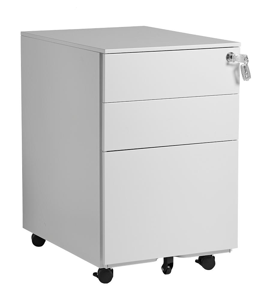 New Office skuffekassette hvid metal HOVEDBILLEDE