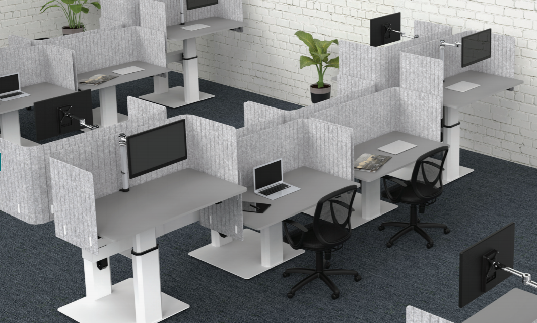 New Office Move Arbejdsstation 2 borde