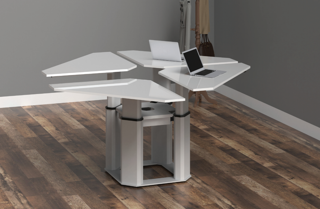 New Office Move Hvid Arbejdsstation firedobbelt