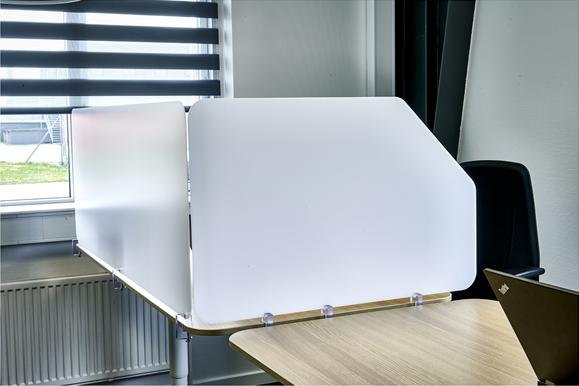 New Office Hygiejneskærme Opal plast Side og Front